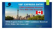 105th Canada Express Entry Draw - Canadian PR - Morevisas