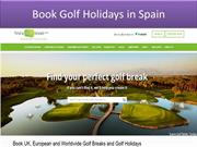 Book Golf Holidays in Spain