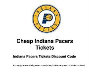 Get Your Indiana Pacers Tickets