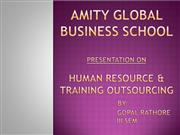 human resource and training outsourcing