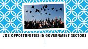Job Opportunities In Government Sectors