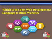 Which is the Best Web Development Language to Build Website