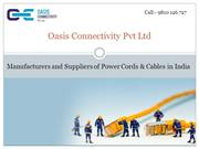 Power Cords and Cables Manufacturers, Suppliers in India