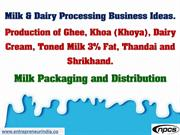 Milk & Dairy Processing Business Ideas