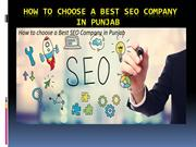 How to choose a Best SEO Company in Punjab