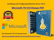 Download Updated Microsoft 70-410 Dumps -  70-410 Exam Study Material