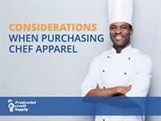 Considerations When Purchasing Chef Apparel