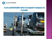 Fast and Reliable Auto Transport Company in Canada