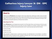 Catharines Personal Injury Lawyer St. ON