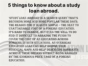 5 things to know about a study loan