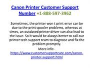 Canon Printer Customer Support Number +1-888-597-3962