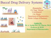 Buccal drug delivery systems