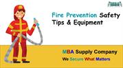 Fire Prevention Safety Tips & Equipment