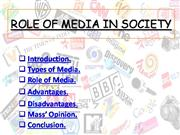 Role of media in society by 1sUk