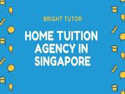 Private Tutor Singapore - Bright Tutor