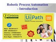 Robotic Process Automation - Introduction