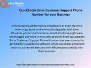 Reliable Quickbooks Error Customer support Phone Number and Services
