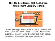 Hire the Best Laravel Web Application Development Company