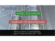 Hydraulic-lift-manufacturers