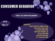 CONSUMER BEHAVIOR -GROUP 06[1]