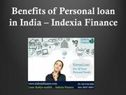 Benefits of Personal Loan in India