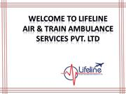 Take a Short Glimpse of Lifeline Air Ambulance in Patna Presentation