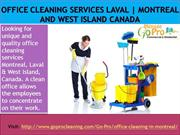 Office Cleaning Services Laval, Montreal and West Island Canada