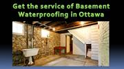 basement waterproofing ottawa