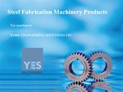 Yes machinery  steel fabricarion machinery