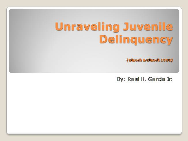 essays about gender and juvenile delinquency Essays the relationship between race and juvenile delinquency the relationship between race and juvenile delinquency 11 november 2016 having a strong focus on the gender and race influence on juvenile delinquency.
