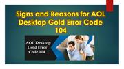 Signs and Reasons for AOL Desktop Gold Error