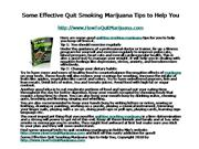 Some Effective Quit Smoking Marijuana Tips to Help