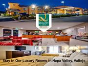 Stay in Our Luxury Rooms in Napa Valley Vallejo