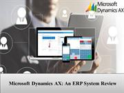 Microsoft dynamic AX overview with financial & technical features