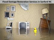 Flood Damage Restoration Services in Sanford NC