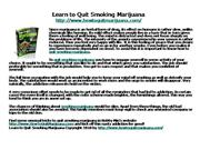 Learn to Quit Smoking Marijuana
