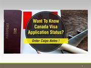Want to Know Canada Visa Application Status