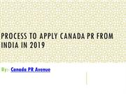 How to Apply Canada PR from India in 2019?