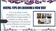 Useful Tips On Choosing A New Bed