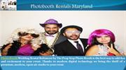 Photobooth Rentals Maryland