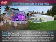 Party Tents For Sale at Best Price
