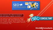 Why best San Francisco SEO Agency is hire seo consultants