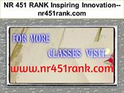 NR 451 RANK Inspiring Innovation--nr451rank.com