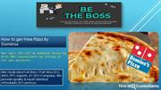 How to get Free Pizza By Dominos
