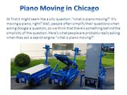 Piano Moving in Chicago
