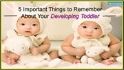 Important Things to Remember About Your Developing Toddler