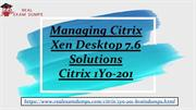 Latest December Citrix 1Y0-201 Exam Questions - 1Y0-201 Exam Dumps PDF