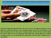 Spy Cheating Playing Cards Device Shop in Andhra Pradesh