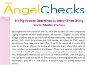 Hiring Private Detectives