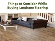 Things to consider while buying laminate flooring